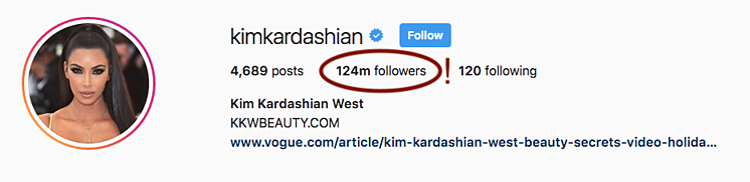 Kim K Instagram