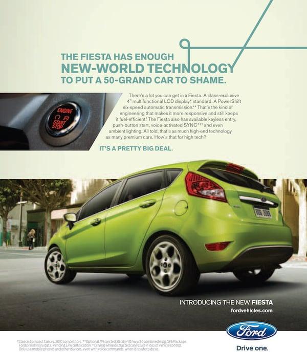 Ford Fiesta ad