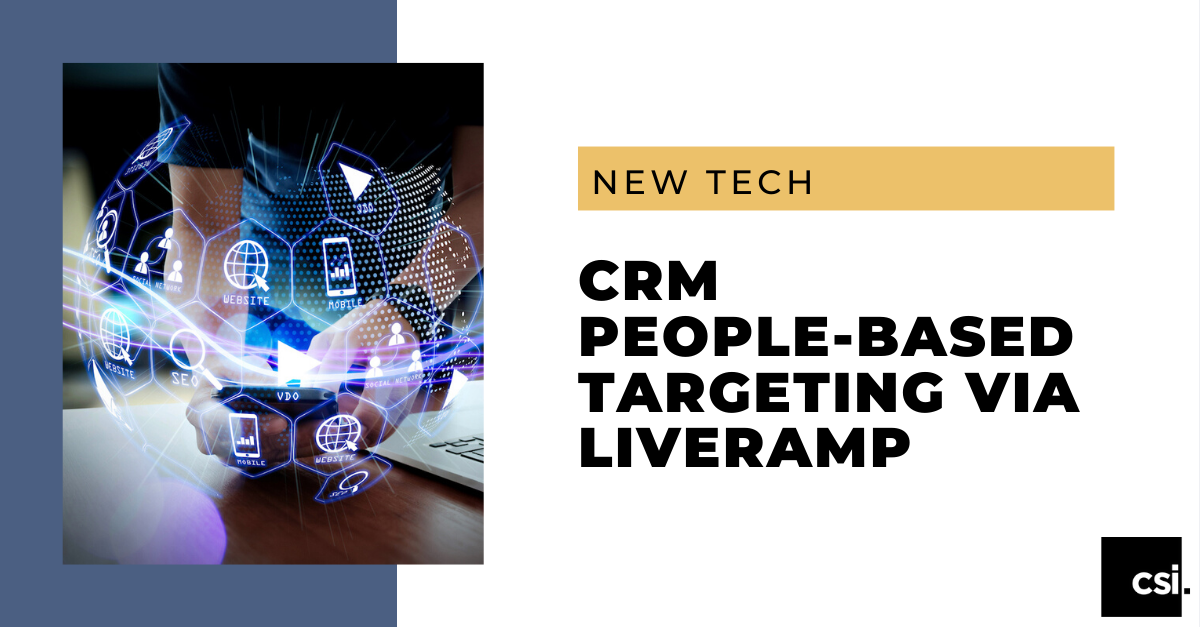 CRM People-Based Targeting via LiveRamp - Banner
