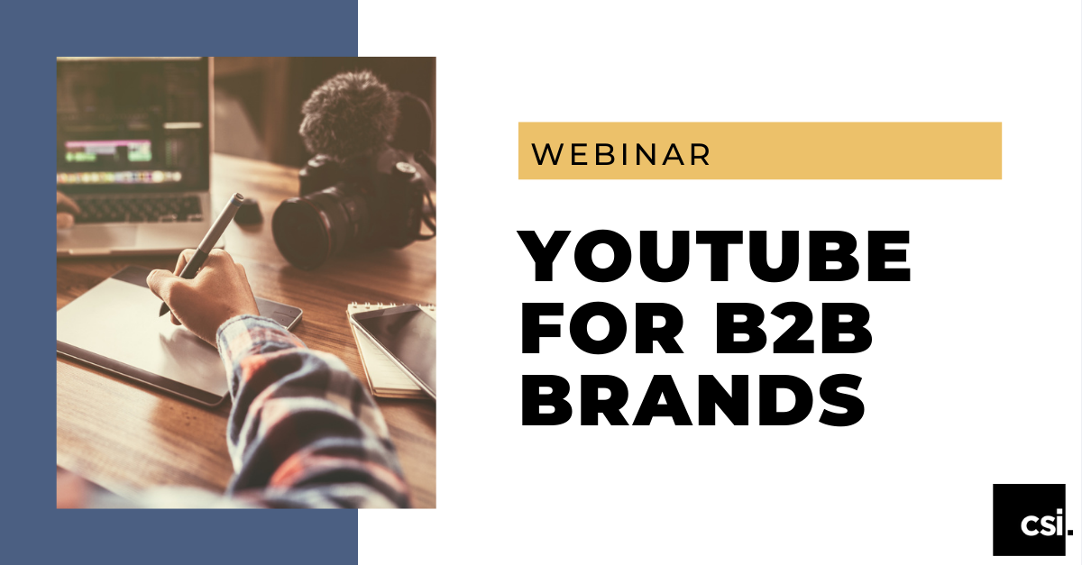 YouTube for B2B Brands Webinar