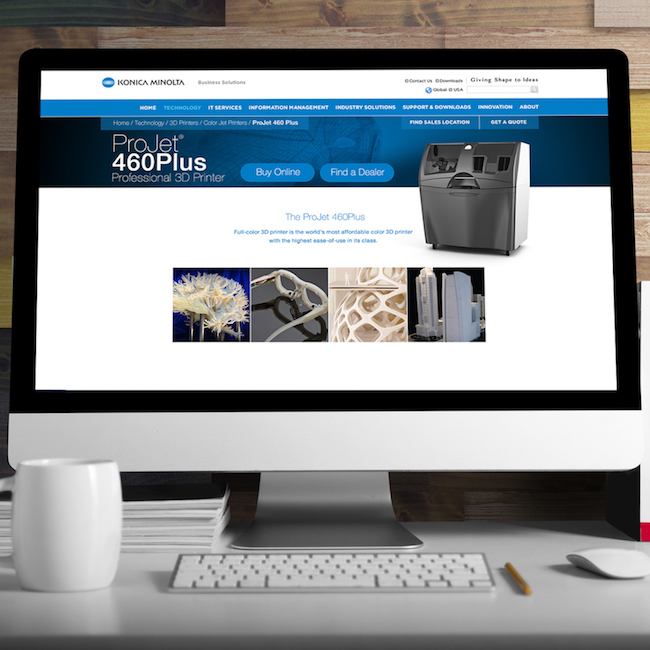 Konica Minolta Business Solutions Website Redesign