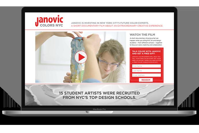 Janovic Landing Page